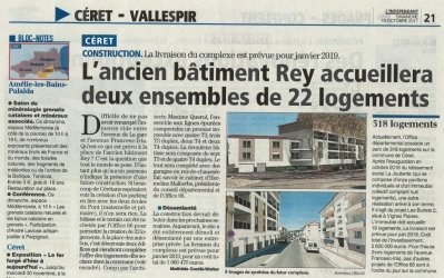 réalisation de 22 logements sur Ceret