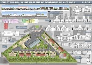 CONSTRUCTION D'UNE CASERNE DE GENDARMERIE A PRADES.